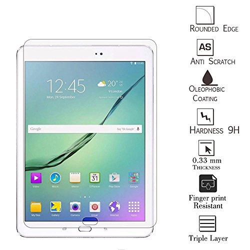 Preisvergleich Produktbild Kamal Star® Tempered Glass Screen Protector für Samsung Galaxy Tab S 8.0 T710 T715 Schutzglas Guard