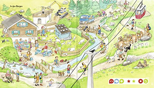 Ravensburger-tiptoi–Mein-groes-Wimmelbuch-Kinder-Wimmel-Weltkarte-Lnder-Tiere-Kontinente