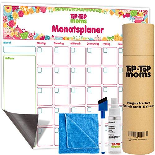 Kühlschrank-Kalender - beschreibbarer Familienplaner für die Küche - Terminplaner ohne Jahr - leicht abwischbares Whiteboard (Magnetische Spind-zubehör)