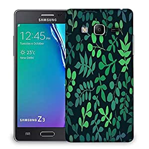 Snoogg seamless pattern with leaf Designer Protective Back Case Cover For Samsung Galaxy Tizen T3