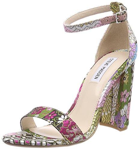 Steve Madden Womens Open Toe Heels (Steve Madden Damen Carrson Sandal (Fabric) Riemchensandalen, Mehrfarbig (Bright Multi), 39 EU)