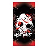 Factory Entertainment Friday The 13th Jason Mask Beach Towel Novelty