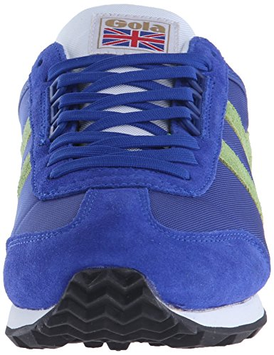 Gola Boston, Baskets Basses homme Bleu - Blue (Reflex Blue/Lime)