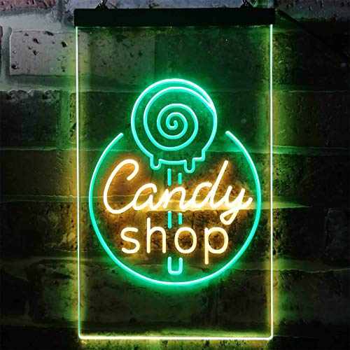ADVPRO Candy Shop Sweet Kid Room Dual Color LED Barlicht Neonlicht Lichtwerbung Neon Sign Green & Yellow 300 x 400mm st6s34-i3219-gy (Neon Sweet 16)