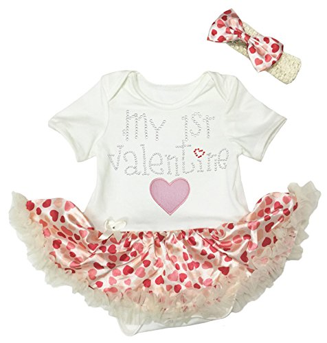 Petitebelle Baby Mädchen (0-24 Monate) Kleid Body beige beige Gr. 40 W/33 L, beige (24 Monate Girl Valentine Outfit)