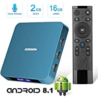 Android 8.1 TV Box with 2.4G Voice Remote, Superpow 2GB RAM 16GB ROM Rockchip 3328 Quad-core Cortex-A53 Up to 1.5GHz WiFi Support 4K Full HD Bluetooth 4.0 Smart Internet TV Box