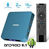 Android TV Box, Superpow Smart Internet TV Box 8.1 with 2GB RAM 16GB ROM,Rockchip 3328 Quad-core Cortex-A53 Up to 1.5GHz WiFi Support 4K Full HD with Remote Control