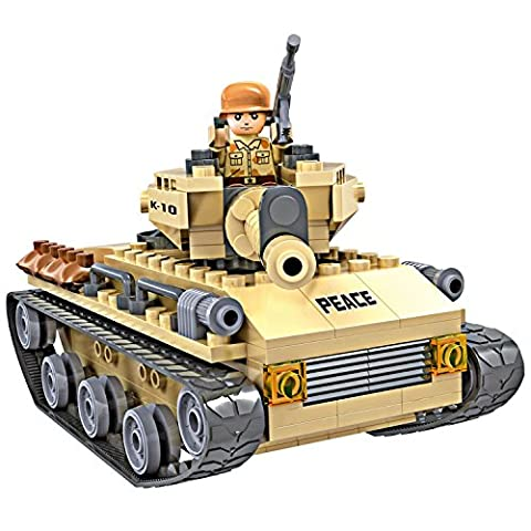 COGO Playset Kit - Toy Army Soliders Peacekeepers Missile Army Tank Gun Educational Tactical Vehicle Building Blocks Construction Brick set