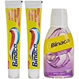 Binaca Amarillo Lot de 2 Dentifrices/Rince-Bouche 450 ml
