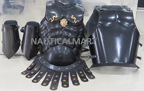 NAUTICAL MART Griechisches Nautisches Leder-Handyschutzhülle mit Armschutzplatte für Halloween-Kostüm