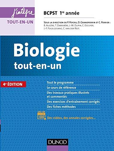 Biologie tout-en-un BCPST 1re anne - 4e d.