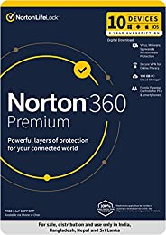 Norton 360 Premium |10 Users 3 Years|Total Security for PC, Mac, Android or iOS |Code emailed in 2 Hrs