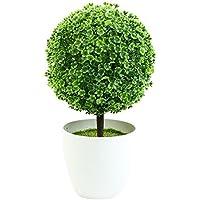 Asien jarrón de cerámica Plantas Artificiales Flores de simulación en macetas Decoradas Que ...