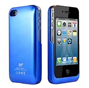 [Official Shop] BXT 2200mAh External Juice Pack Power Bank Case and Rechargeable Back Up Battery Charger For iPhone 4 & 4S - Blue