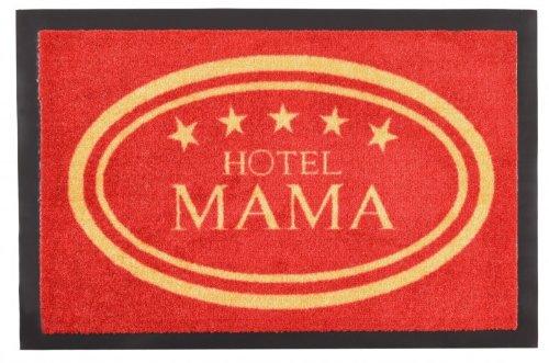 Fußmatte Hotel Mama gummierte Rückseite, Größe:40x60