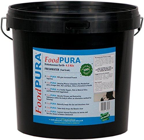 Terre De Diatomées De Catégorie Alimentaire Protecteur Naturel PURA® 4.5kg LIVRAISON GRATUITE 3 jours Godet de qualité alimentaire noir