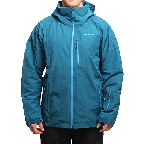Patagonia M Insulated Powder Bowl Jacket - Underwater Blue - L - Wasserdichte isolierte Herren Gore-Tex® Ski- und Snowboardjacke (Powder Insulated Bowl)