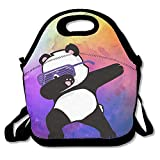 Hip Hop Panda Glasses Lunch Tote Bag Bags Awesome Lunch Handbag Lunchbox Box For School Work Outdoor