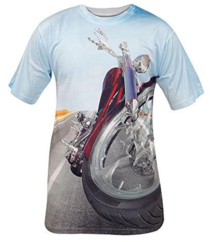 Men Printed T-shirt S9-Motor Bike