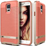 Galaxy S5 Case, Caseology� [Wavelength Series] Textured Pattern Grip Cover [Coral Pink] [Shock Proof] for Samsung Galaxy S5 - Coral Pink