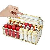 AOCT SHOP-Jewelry Box Lippenstift Lip Glasur Lipgloss Aufbewahrungsbox Staubdichte Aufbewahrungsbox Schmuckschatulle mit Deckel Kosmetik Tischveredelungsglas-Geschenkbox