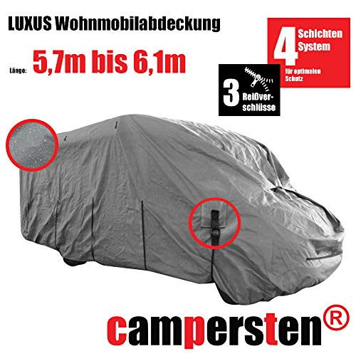 Preisvergleich Produktbild campersten Wohnmobil-Abdeckung / Schutzhülle / Wohnmobil-Abdeckplane / 4-Schichten-Gewebe (M: 5, 7m bis 6, 1m)