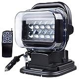 Wnglei 50W185 * 150 * 230mm Telecomando senza fili Proiettore esterno impermeabile IP67 LED Car Work Light SUV Lampada frontale modificata Black Spotlight