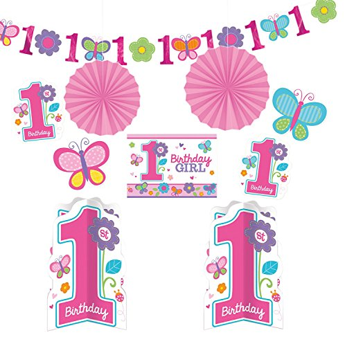 Amscan 240432 - Party Deko Set, Sweet Birthday Girl, (Childrens Party Supplies)