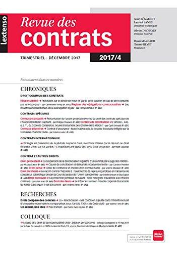 Revue des Contrats N 4 - 2017