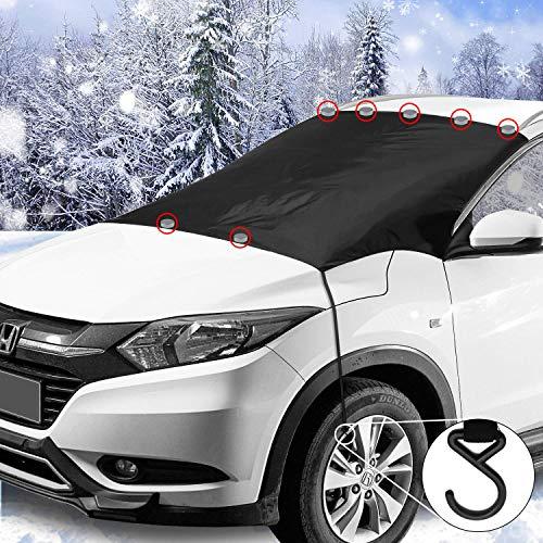 Greatwild Magnetische Frontscheibenabdeckung Auto Scheibenabdeckung Windschutzscheibe Frost Schnee Schutz mit 7 Magnete 2 Haken Eisschutzfolien Oversized für SUV Truck Normal Auto