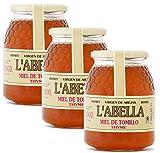 Thymianhonig aus Spanien - Premium Qualität - reines Naturprodukt - kaltgeschleudert - unfiltriert- kräftige Würze und Geschmack von Thymian- 3 x 1 Kg, Geschmack:Thymian, Größe:1000 g