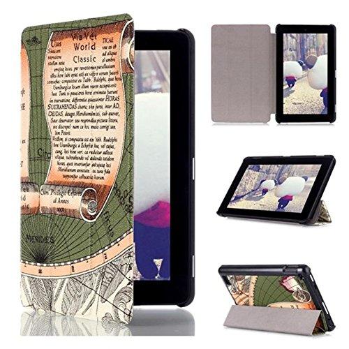 Gitarrenhalter in Form Tri-Fold Leder Schutzhülle für Amazon Kindle Fire 72015Folio Ständer (Kindle Hd Fall Fire Potter Harry)