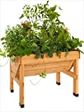 Hochbeet aus Holz als Pflanztrog, Holz, für kleinere Gärten und Balkone, L/B/H: 100/76/80 cm. Fi_47046