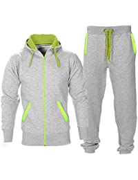 ea1be57bfcf5 Contrast Mens Tracksuit Set Fleece Hoodie Top Bottoms Jogging Joggers  Regular