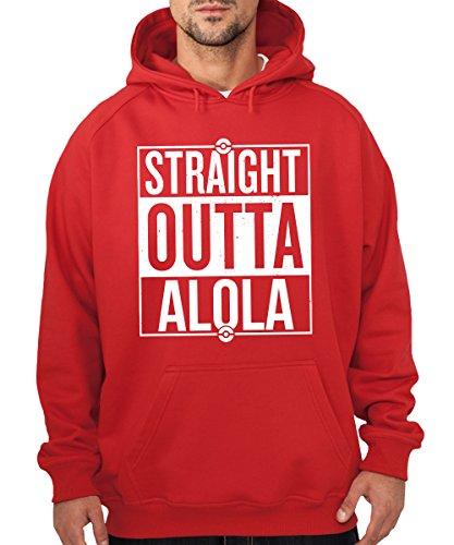 -- Straight Outta Alola / Sonne und Mond -- Boys Kapuzenpullover Rot
