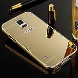 Etui Galaxy S5,Huphant Coque Galaxy S5 Or Miroir Luxe Housse 2 en 1 [Premium...