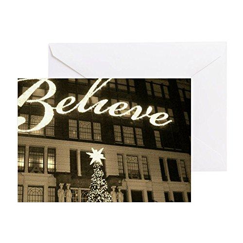 CafePress-Macy 's New York City Weihnachten-Grußkarte, Note Karte, Geburtstagskarte, innen blanko, glänzend