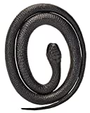 Wild Republic - Serpiente Mamba de goma, color negro, 117 cm (20776)