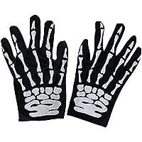 Jebester White Skeleton Gloves Ghost Bones for Adult Halloween Dance Costume Party