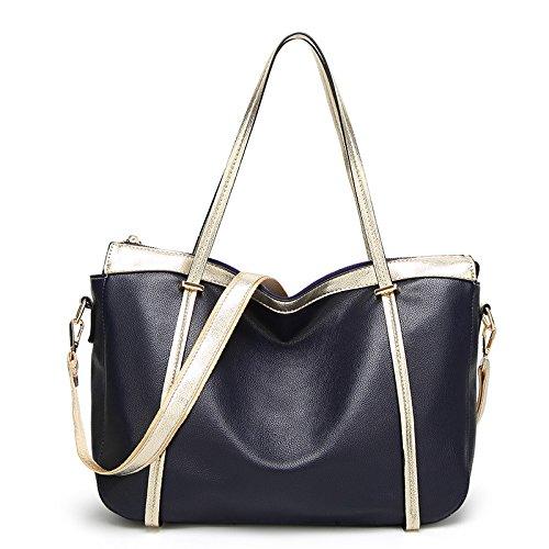 Meoaeo Modische Taschen Handtasche Schultertasche Mit Großer Kapazität Navy Blue