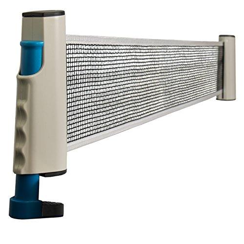Tischtennisnetz für Tennisplatten und Tische - Bis 160 cm Ausziehbar - Ping Pong Netz Indoor und Outdoor - Grinscard