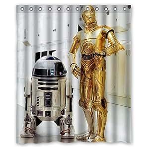 R2D2 Star Wars Robot shower curtain 60x72 inch