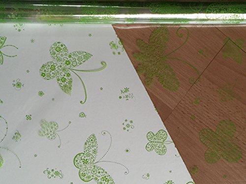 1m x 80cm Apple Grün Schmetterling Schnitt Länge (gefaltet), Floristen Cellophan Geschenk Körbe Behindert Blumensträuße (Apple-geschenk-korb)