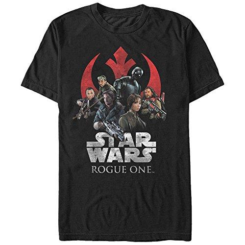 Star Wars Rogue One Classic Rebellion T-Shirt für Herren - Schwarz - 4X-Groß (Classic Wars-t-shirts Star)