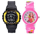S S TRADERS - Pink Barbie analog watch a...