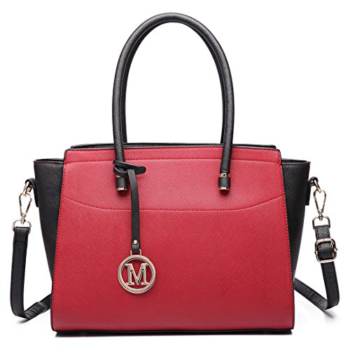 Miss Lulu, Borsa a spalla donna 6627 Red/Black