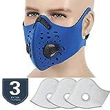 Masque Anti-Poussière avec Earloop Réglable Velcro et Filtre à Charbon Actif Pour...