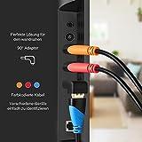 HDMI Kabel 3 Pack 1.8m (L) mit 90 Grad Winkel Adapter, 3 pack Kabelbinder, High Speed HDMI Kabel für 4K 3D Video, HD TV, 1080P, Xobox One, PS4, PS3, Wii, Ethernet, Computer, Laptop usw hergestellt von Pipeshell