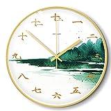 LZCHA Orologio da Parete in Metallo Muto di Piccole Dimensioni con Orologio da Parete Decorativo Fresco da 12 Pollici, 14 Pollici