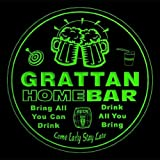 4x ccq17584-g GRATTAN Family Name Home Bar Pub Beer club Gift 3D Coasters